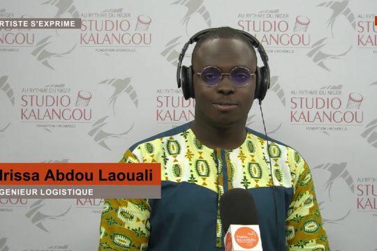 Idrissa Abdou Laouali sur le plateau de l'artiste s'exprime
