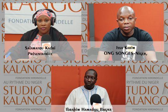 Les invités au forum du jour sur le plateau du Studio Kalangou