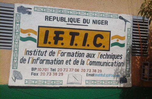Niamey/ 22 octobre, jour de la rentrée pour environ 500 élèves et étudiants de l'Institut de Formation aux Techniques de l'Information et de la Communication (IFTIC)