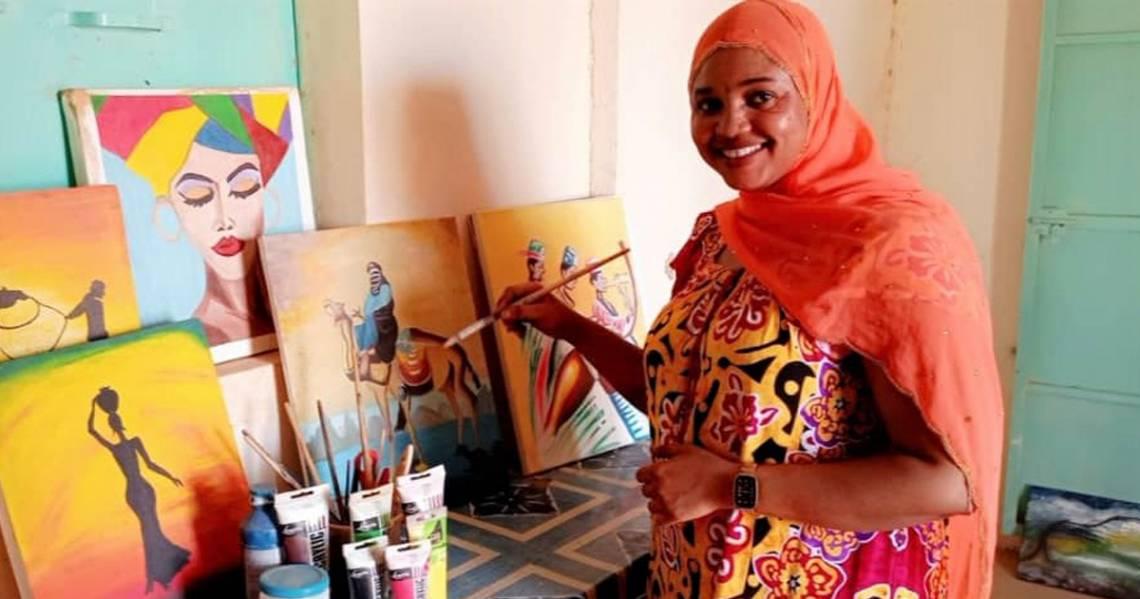 Ramatou Waissilimne, jeune artiste peintre d'Agadez